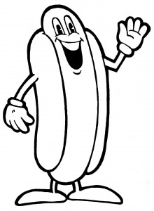 220x300 Hot Dog Clipart Black And White Clipart Panda