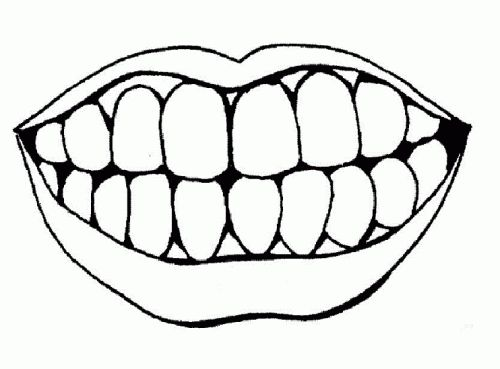 500x369 Lips Black And White Hot Pink Lips Clip Art