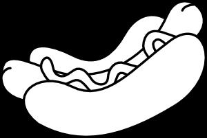 300x201 Personals Zimtundzucker Zimtunds Black And White Hot Dog Clip Art