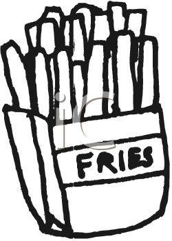 250x350 Picture Of A Box Of Fast Food French Fries In A Vector Clip Art