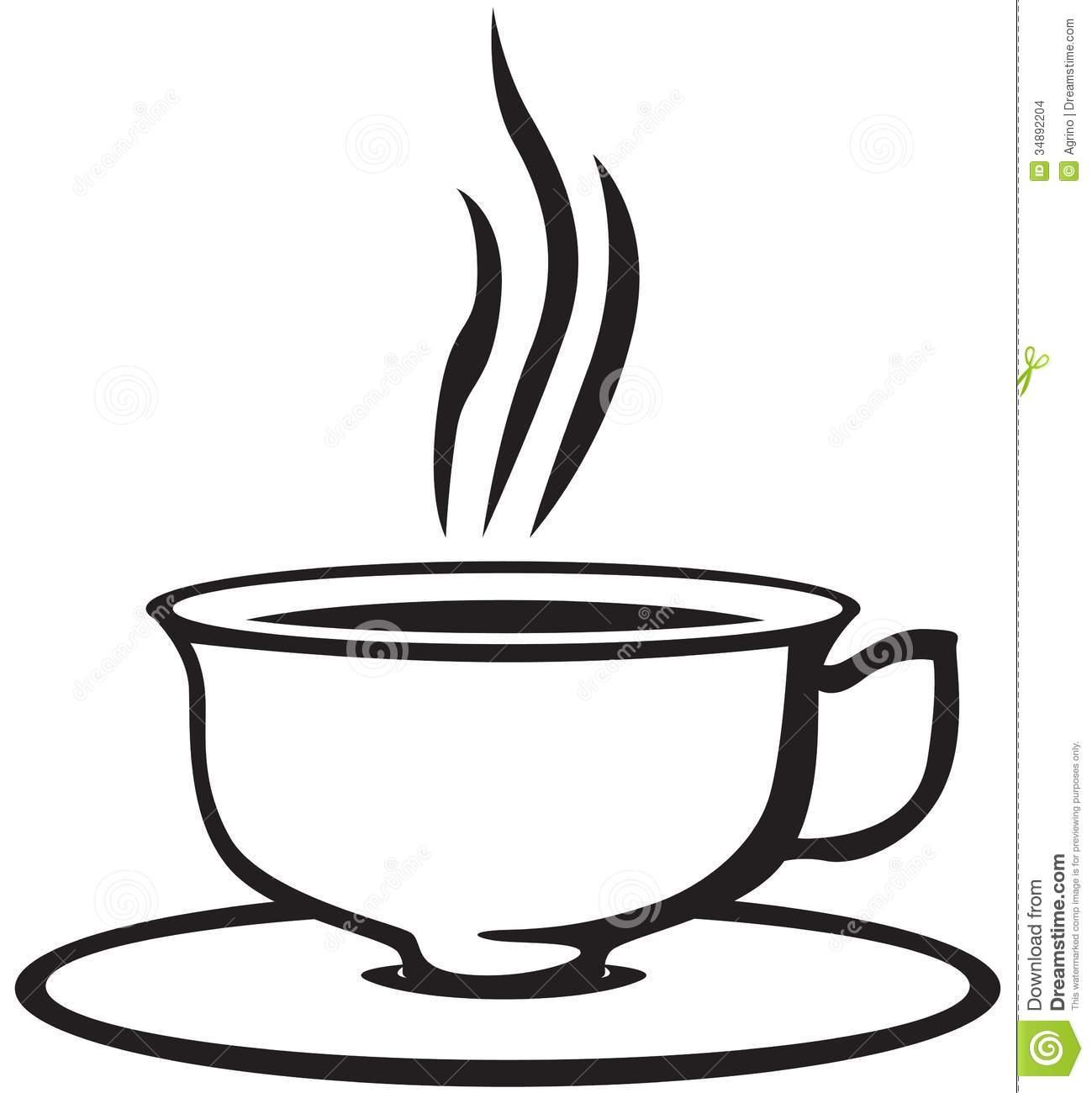 1299x1300 Tea Clipart Black And White