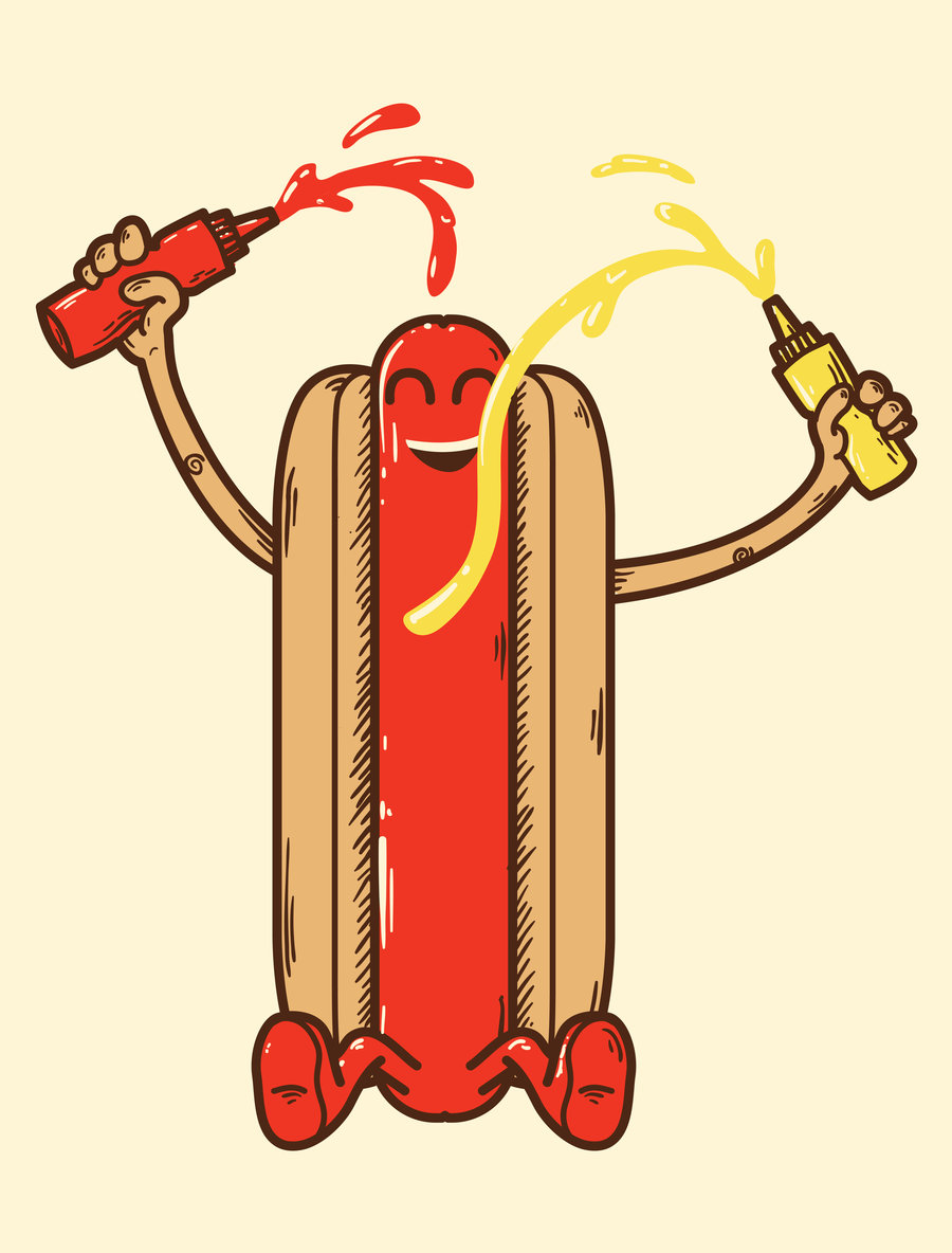 900x1184 Happy As A Hotdog By Biotwist