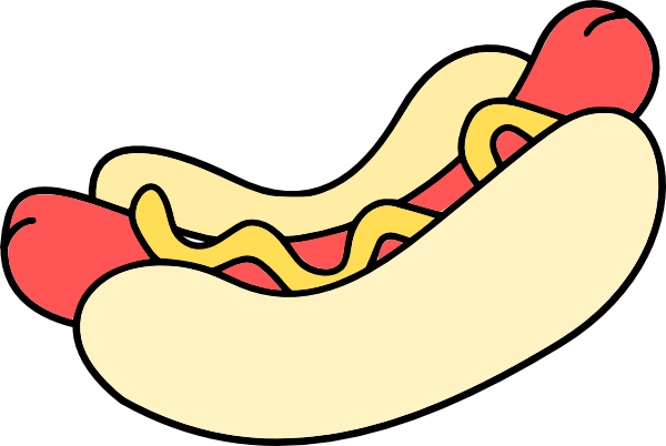 600x402 Hot Dog Drawings