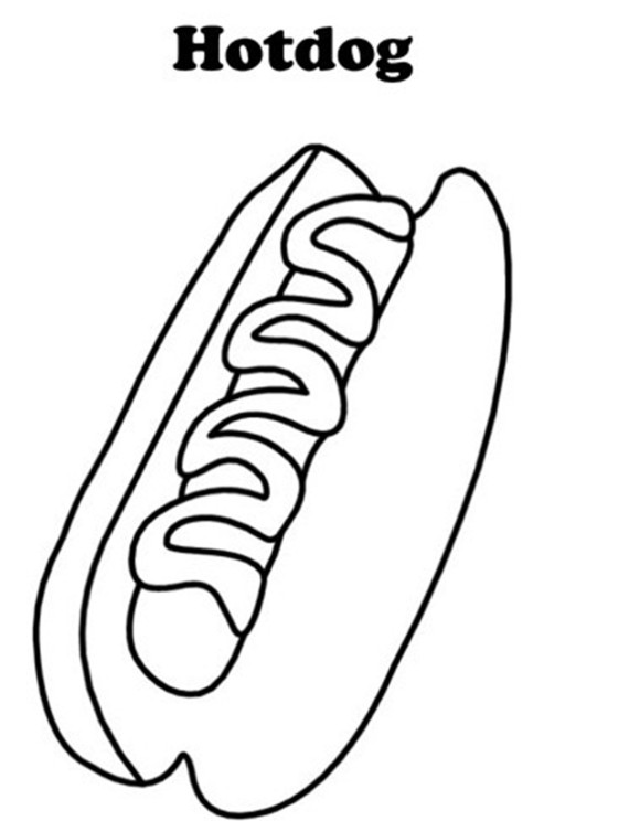 580x744 Hotdog Coloring Pages Of Food Colour Palettes I Love