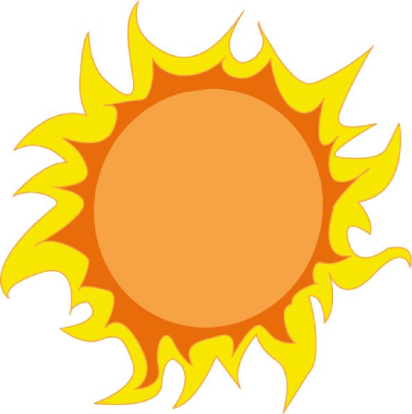 594x597 Hot Summer Clipart