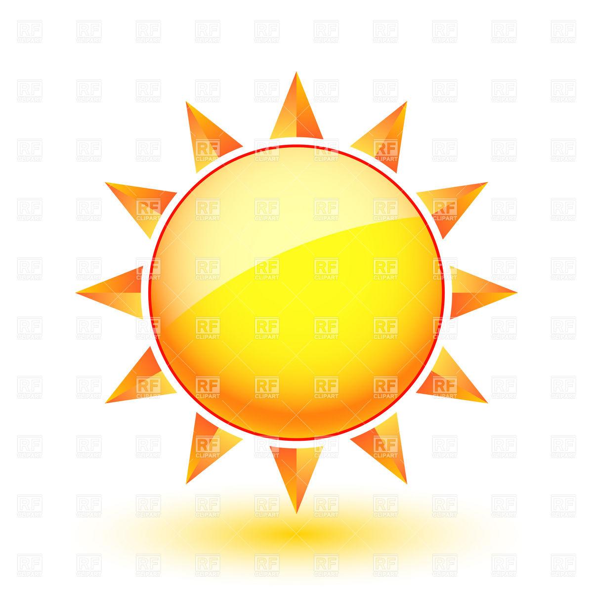 1200x1200 Hot Summer Sun Icon Royalty Free Vector Clip Art Image