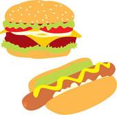 Hotdog And Hamburger Clipart | Free download on ClipArtMag