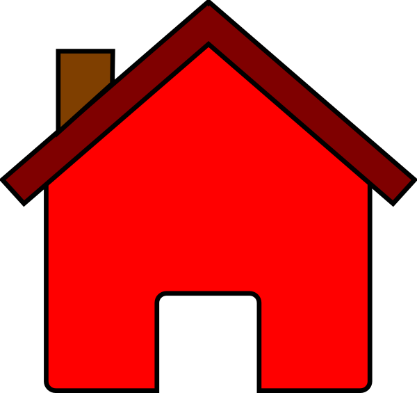 600x565 Red House Clip Art