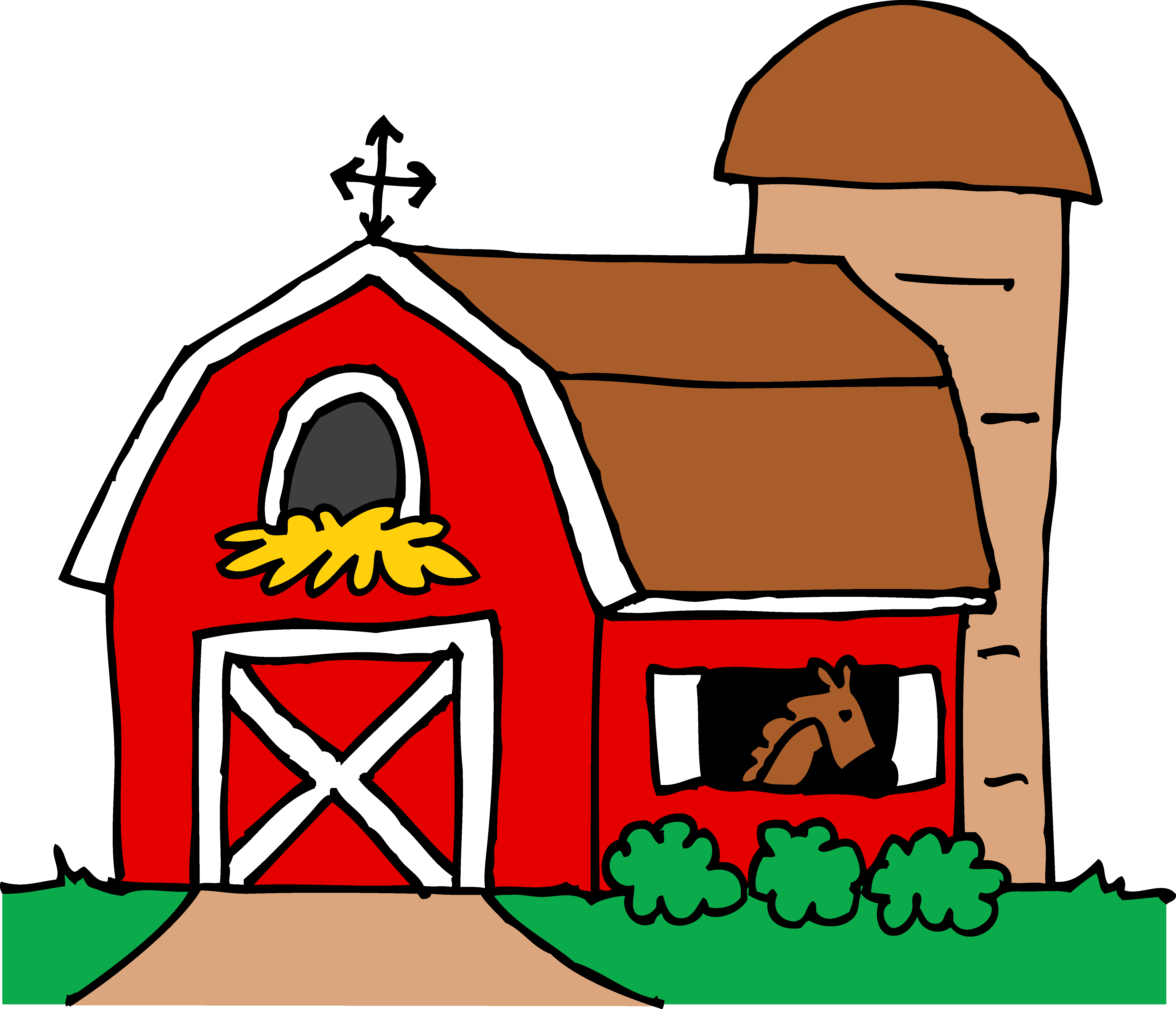 5583x4793 Top 75 Barn Clip Art