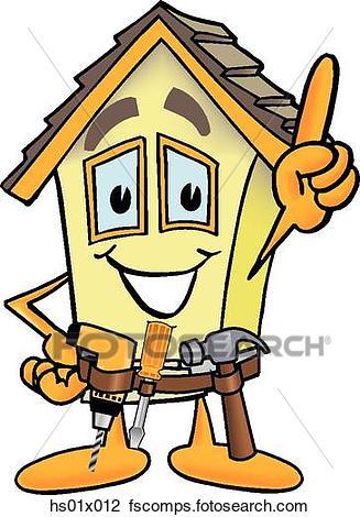 327x470 Clip Art Of House Handyman Hs01x012