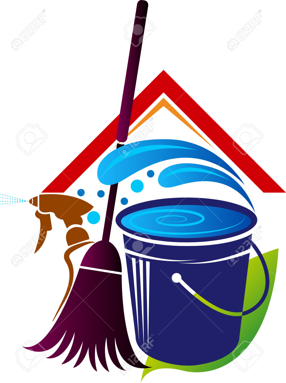 973x1300 House Cleaning Logos