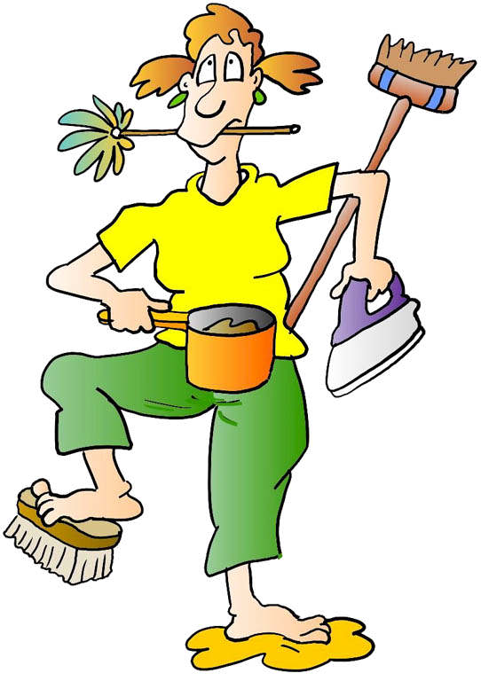 542x768 Clipart House Cleaning