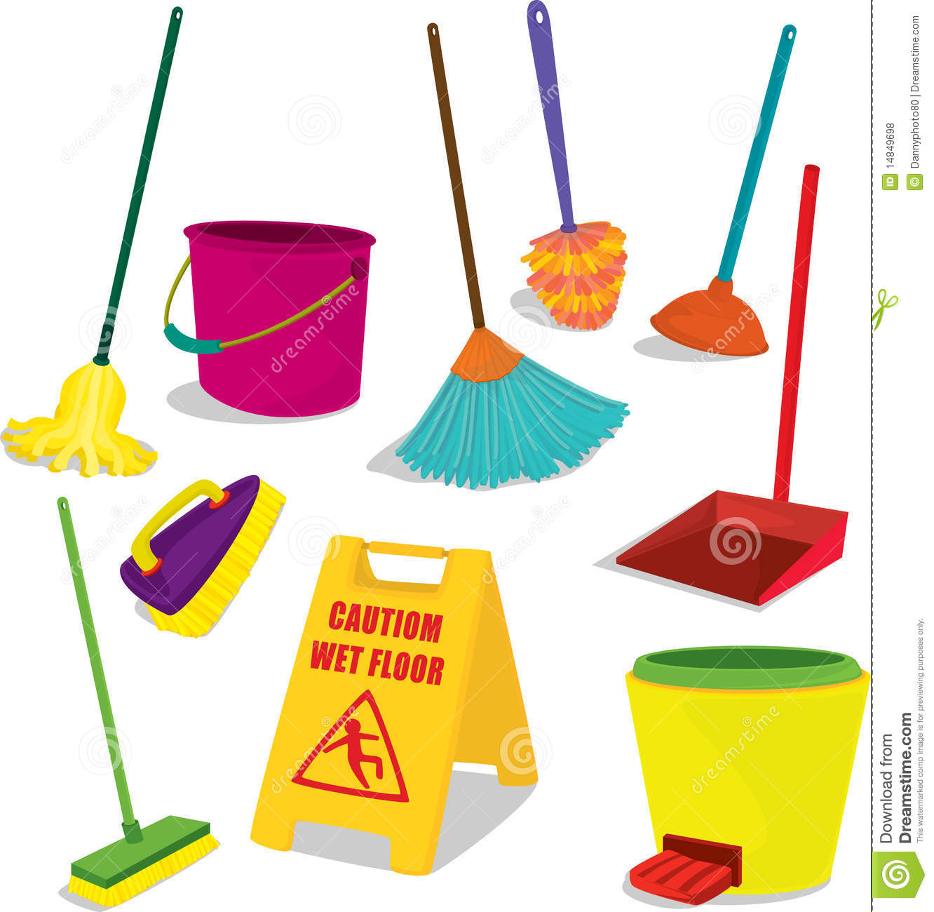1332x1300 House Cleaning Items Images