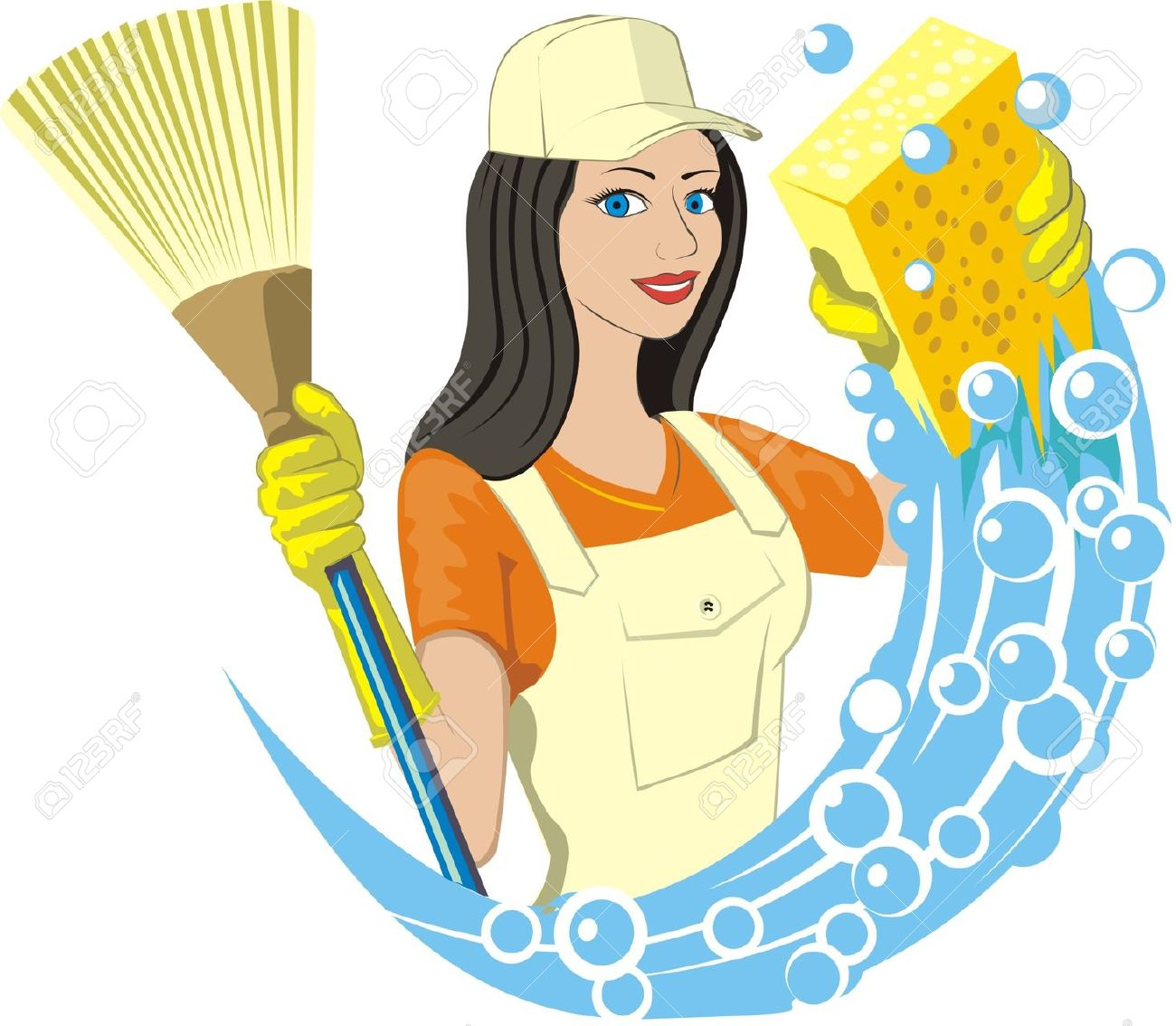 1300x1134 Clipart Of Cleaning Services