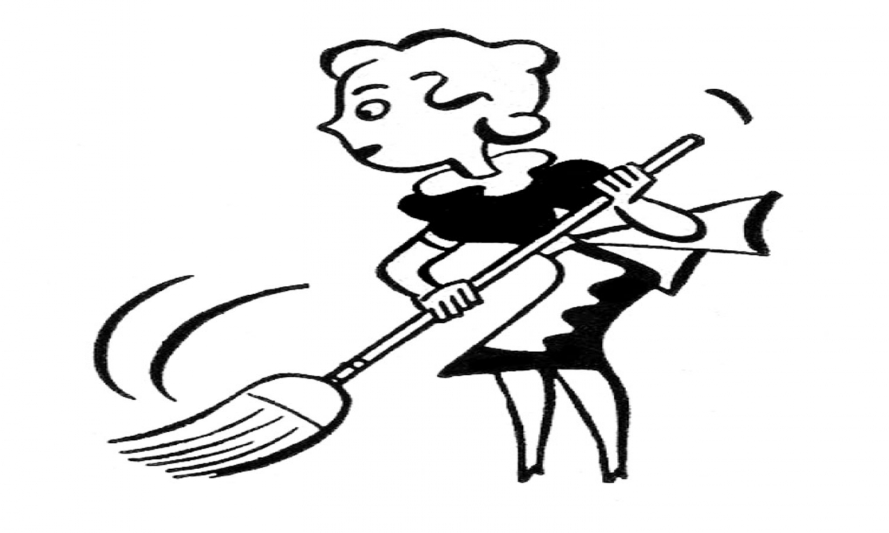 1280x768 House Cleaning Clip Art Black And White Clipart