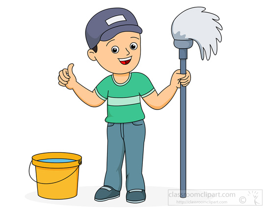 550x434 Boy Clipart Cleaning House
