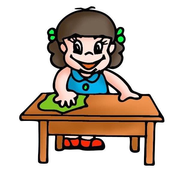 600x600 Cleaning Table Clipart