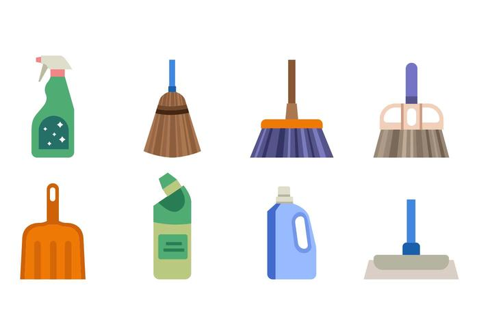 700x490 Free House Cleaning Tools Vector