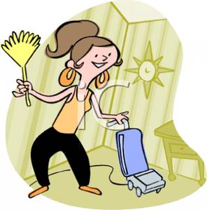 296x300 Free House Cleaning Clip Art