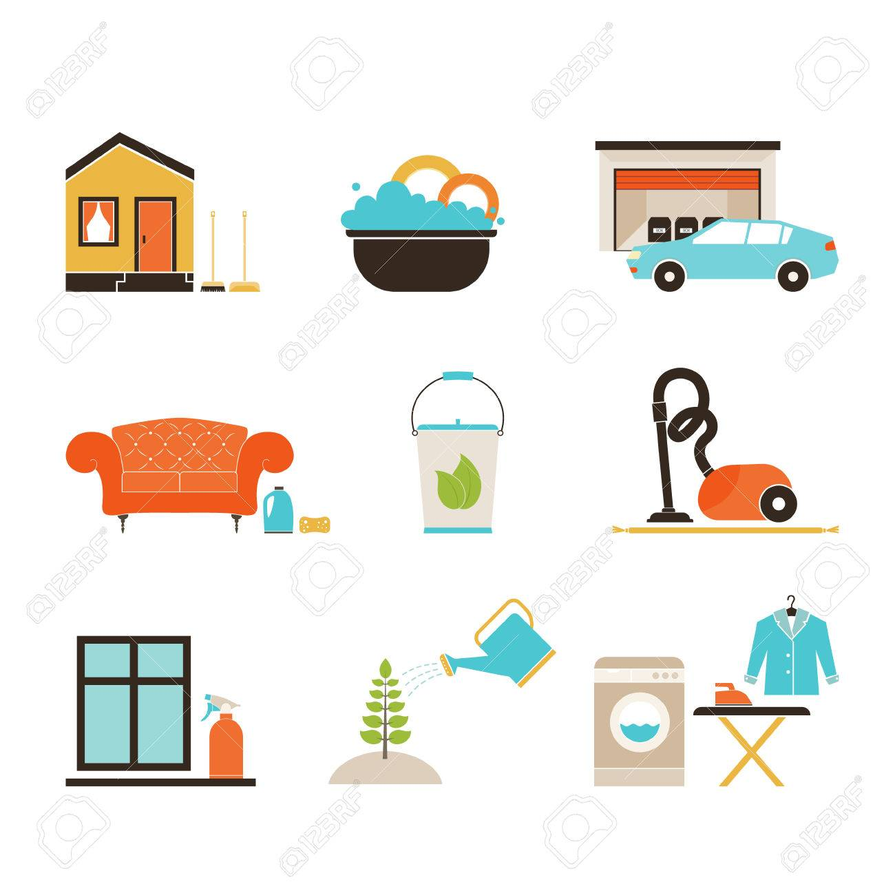 1300x1300 House Cleaning Vector