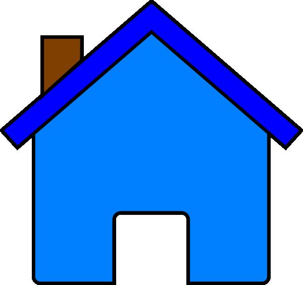 600x565 Blue House Clip Art