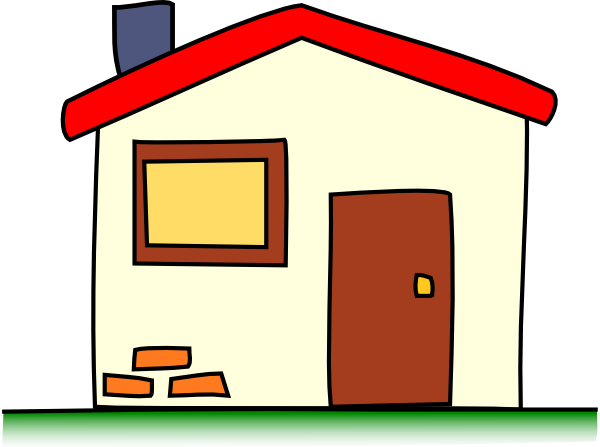 600x447 My House Clip Art