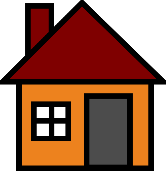 582x600 Orange House Clip Art