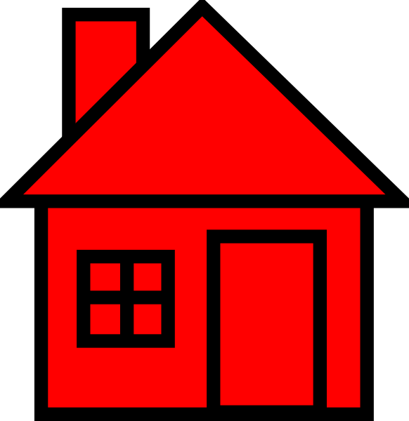 582x600 Red Black House Clipart Clip Art