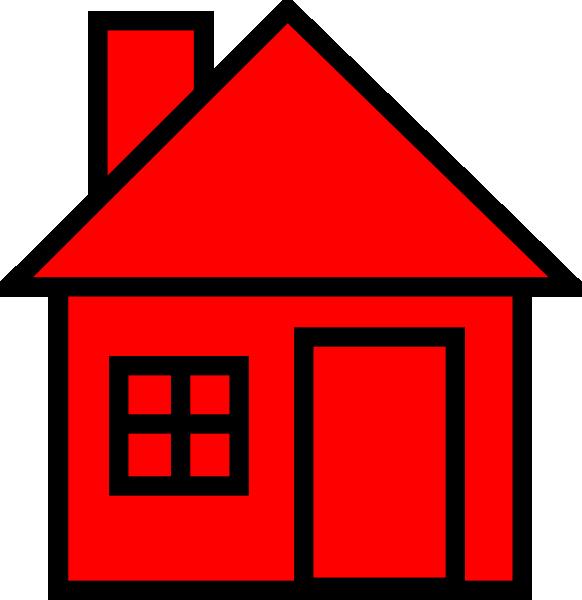 582x600 Red Black House Clipart Clip Art