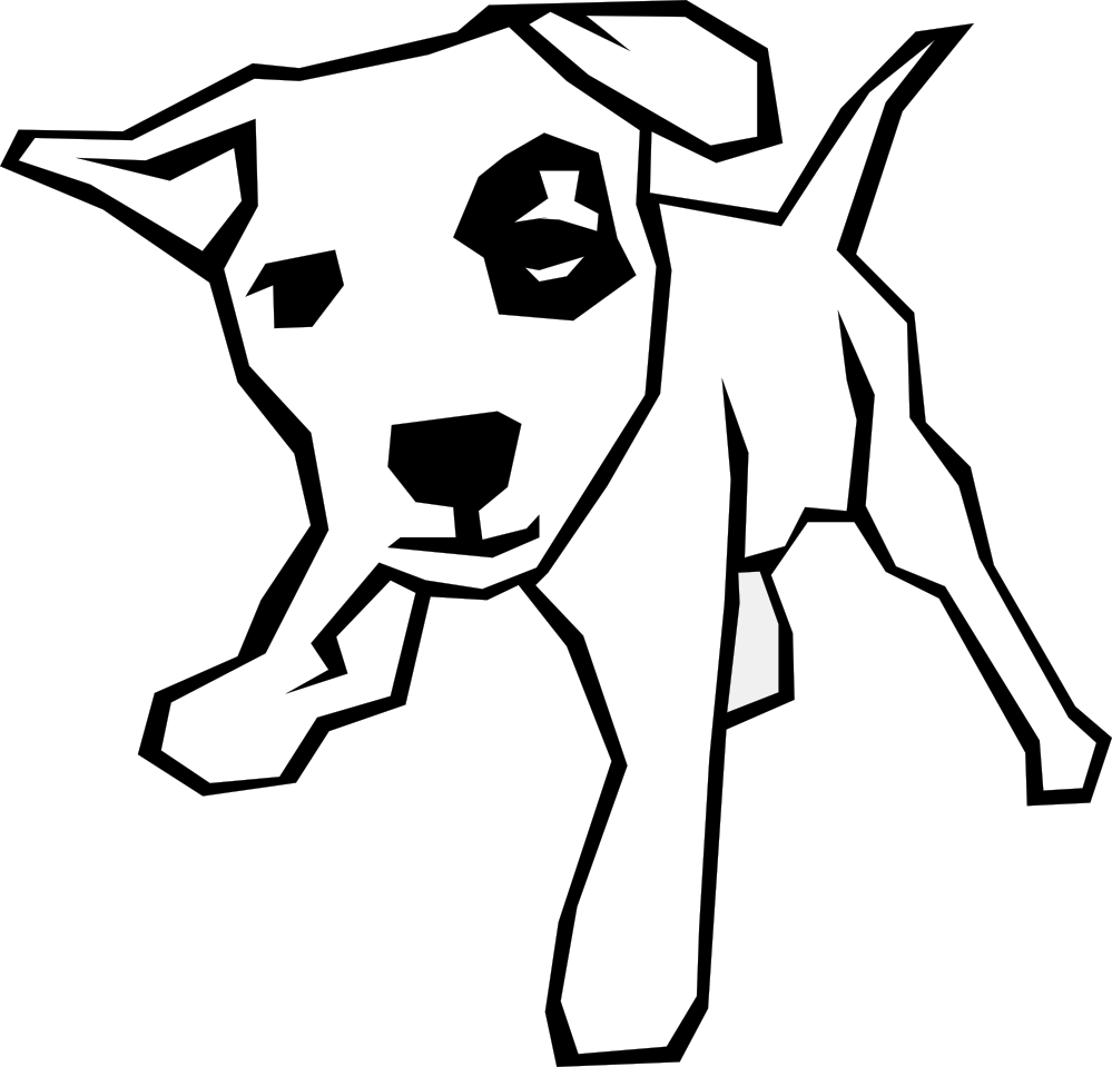 999x959 Clip Art Black And White Dogs 3 Clipart