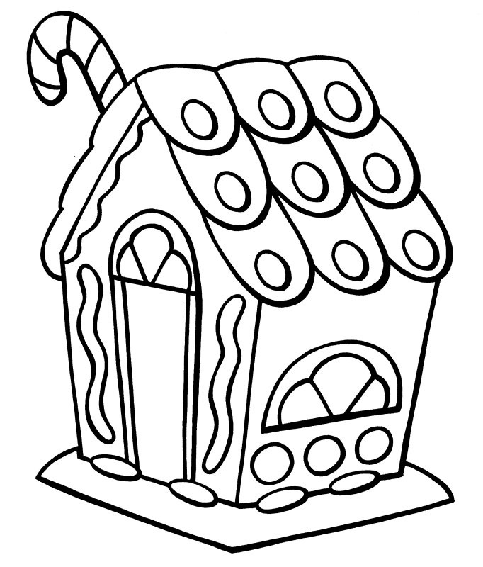 682x800 Gingerbread House Clipart Black And White