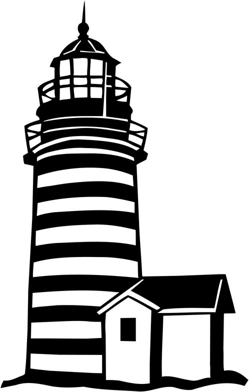 498x784 Beacon Clipart Black And White