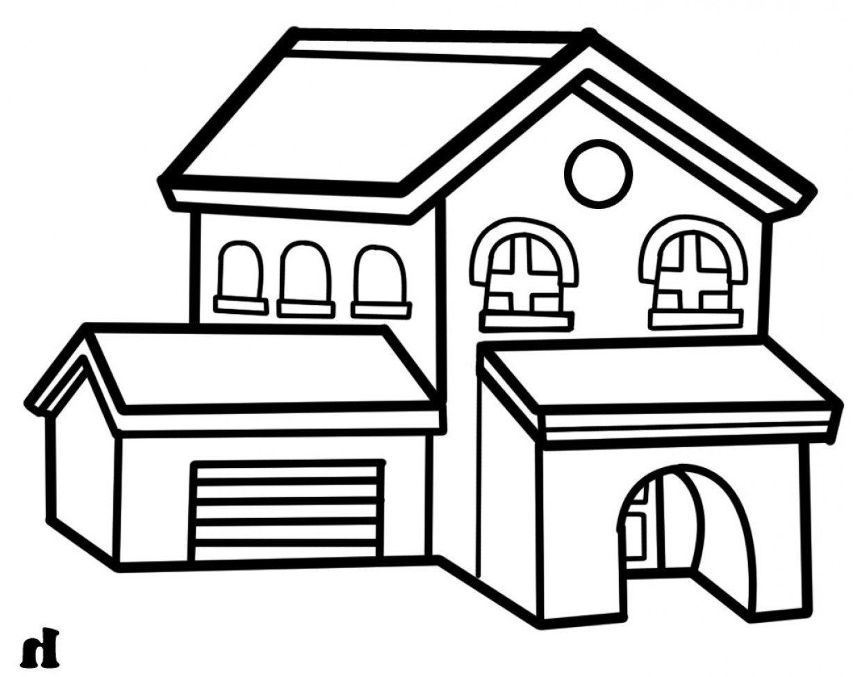 1228x975 Is My House Clipart Black And White
