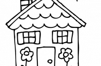 200x130 Charming Design House Clipart Black And White Free Clip Art