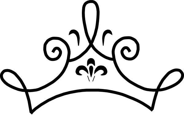 600x376 Crown Tiara House Black And White Clipart
