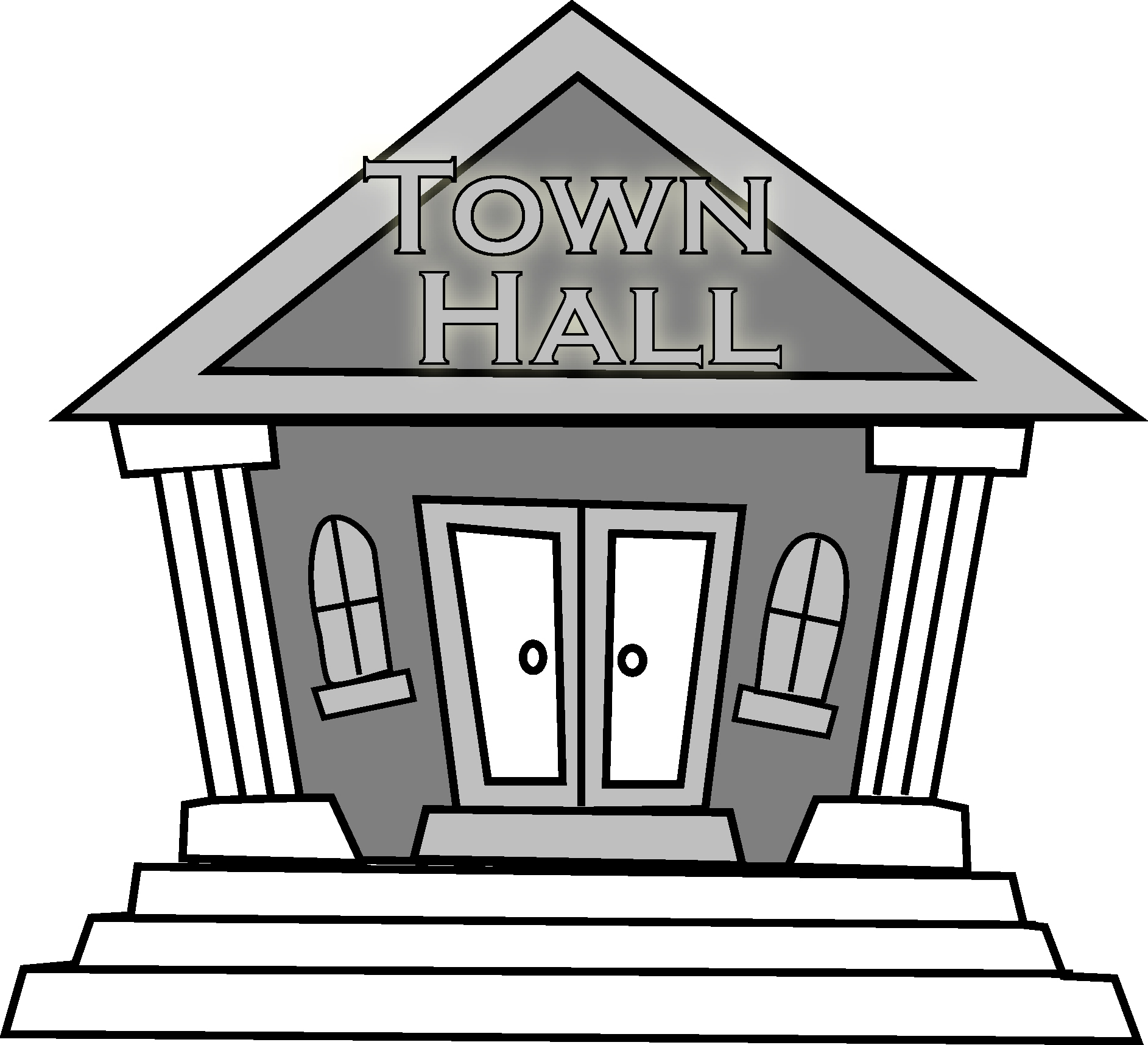 1885x1716 Free School Building Clipart Black And White Image
