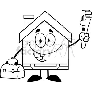 300x300 Royalty Free 6455 Royalty Free Clip Art Black And White House