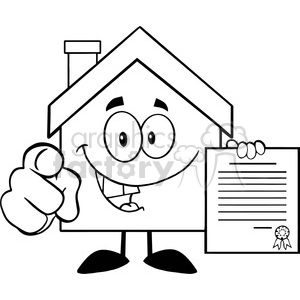 300x300 Royalty Free 6461 Royalty Free Clip Art Black And White House