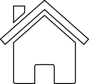 298x282 Black And White House Clipart