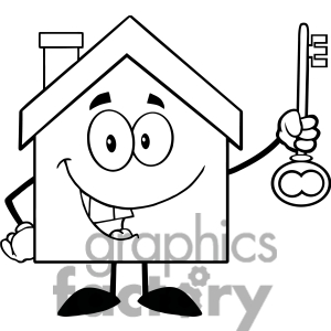 300x300 School House Clipart Black And White Free