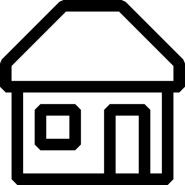 600x600 Black And White House Icon Png, Svg Clip Art For Web