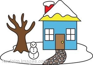 300x212 House Clipart Winter