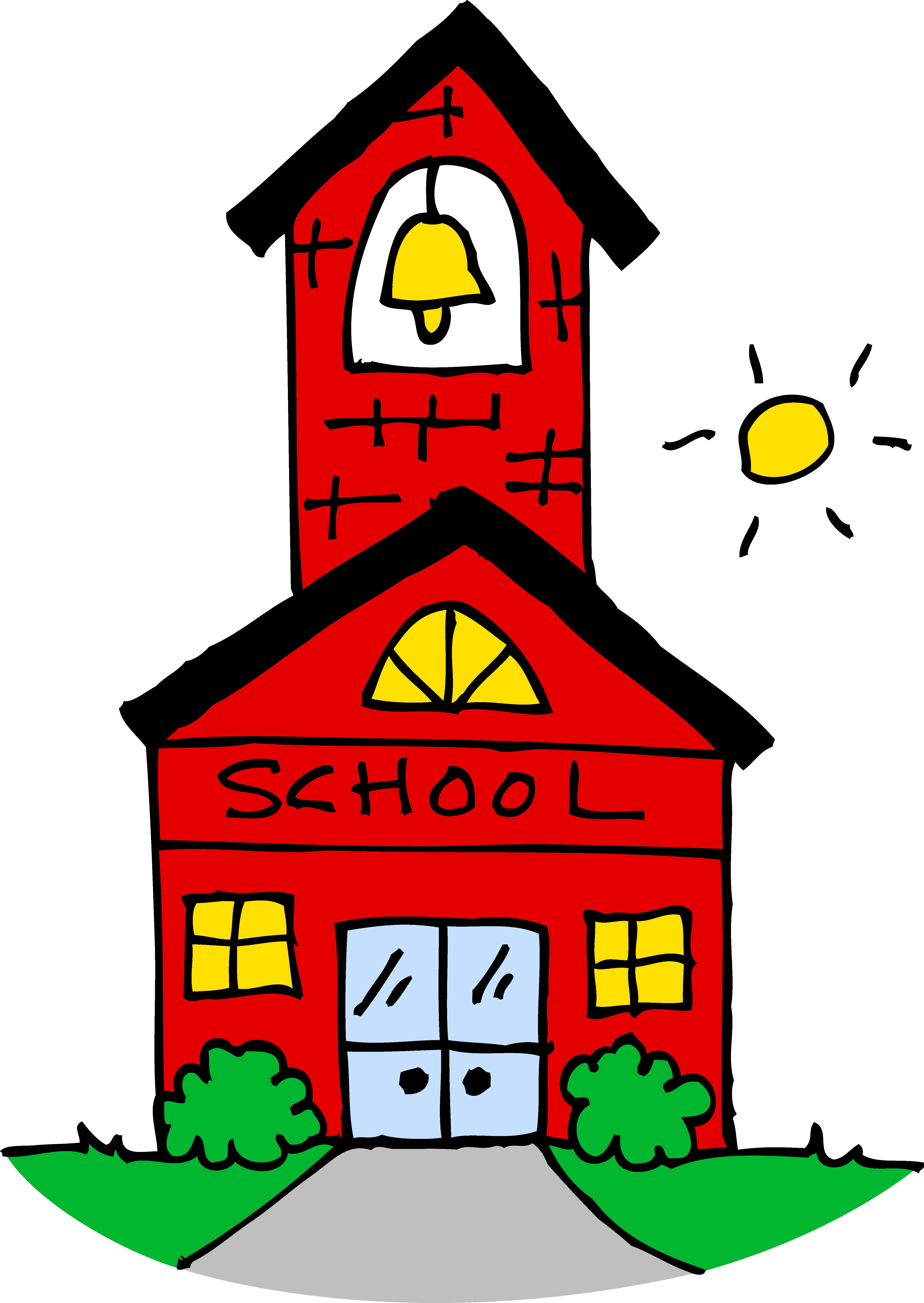 4596x6478 Cute School House Clipart