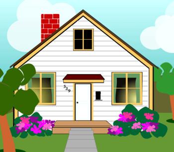 350x306 House Images Clip Art