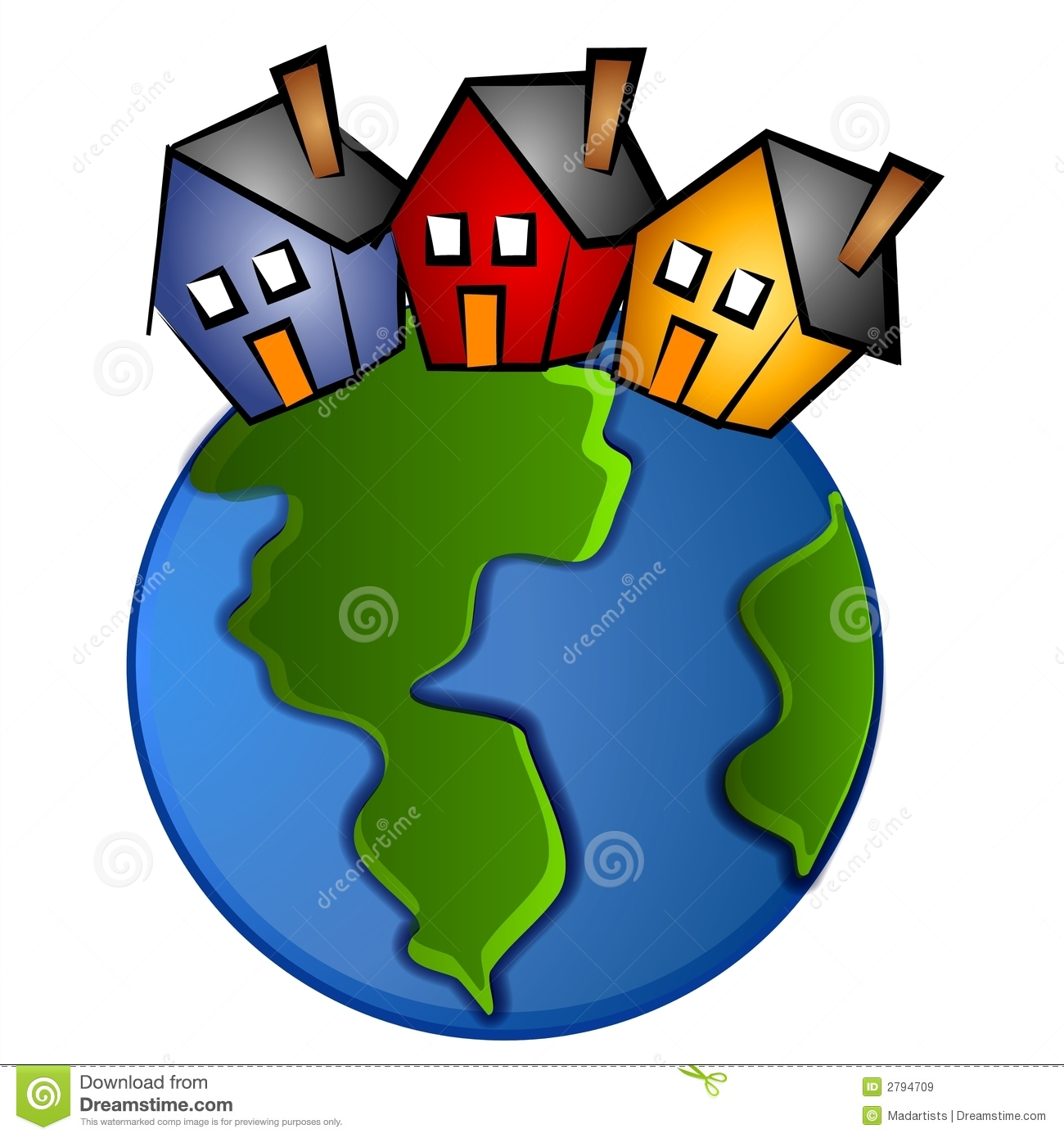 1300x1390 Village Clipart Housing Community