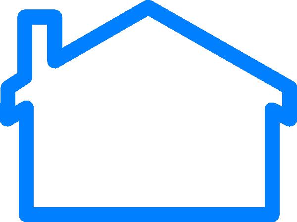 600x450 Blue House Clip Art
