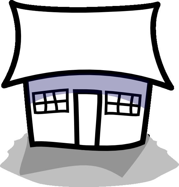 570x597 Blue Symbol House Outline Clipart