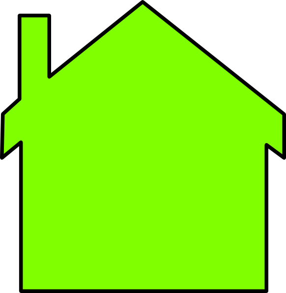 582x596 Green House Outline Clipart