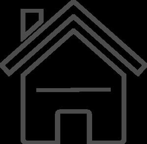 300x294 Grey House Clip Art