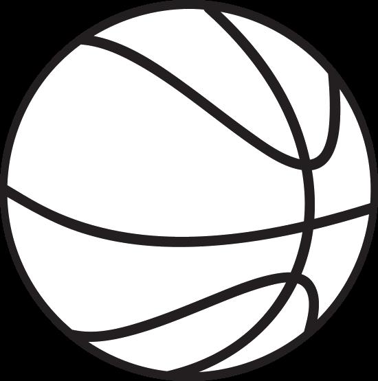 550x555 Basketball Outline Clip Art